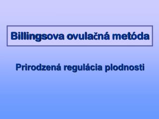 Billingsova ovulacn  met da
