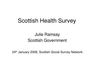 Scottish Health Survey