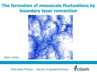 The formation of mesoscale fluctuations by boundary layer convection