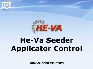He-Va Seeder Applicator Control rdstec