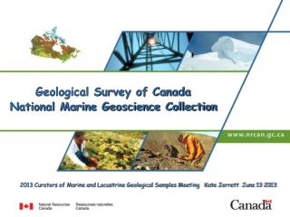 Geological Survey of Canada  National Marine Geoscience Collection