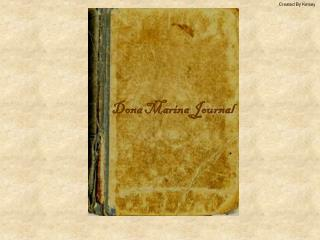 Dona Marina Journal