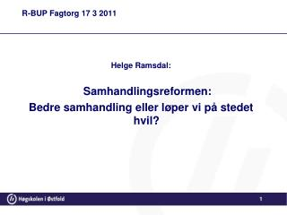 R-BUP Fagtorg 17 3 2011