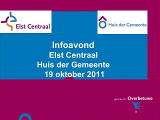 Infoavond  Elst Centraal  Huis der Gemeente  19 oktober 2011