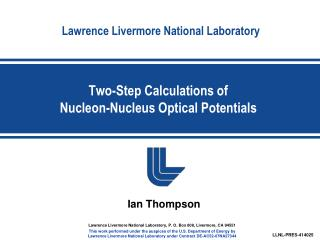 Two-Step Calculations of  Nucleon-Nucleus Optical Potentials