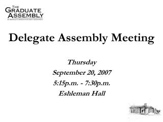 Delegate Assembly Meeting