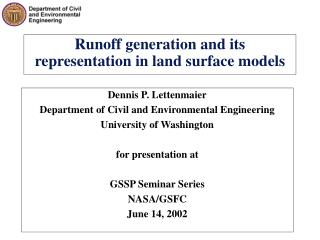 Runoff generation and its representation in land surface models