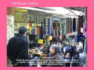 Old Bazaar Ankara