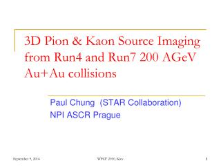 3D Pion & Kaon Source Imaging  from Run4 and Run7 200 AGeV Au+Au collisions