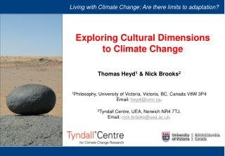 Exploring Cultural Dimensions to Climate Change