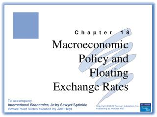 Macroeconomic Policy and Floating  Exchange Rates