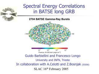 Spectral Energy Correlations  in BATSE long GRB