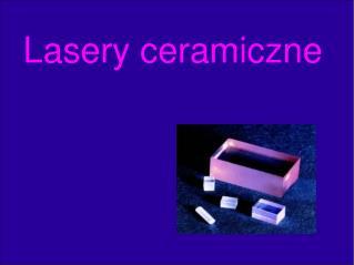 Lasery ceramiczne