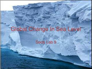 Global Change In Sea Level