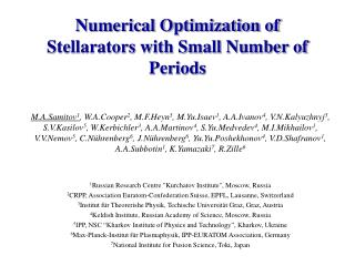 Numerical Optimization of Stellarators with Small Number of Periods