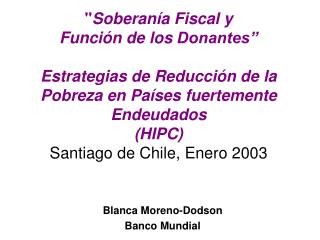 Blanca Moreno-Dodson Banco Mundial