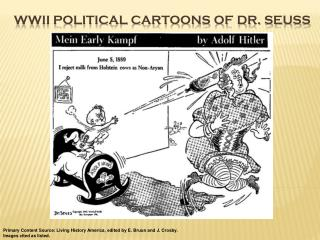 WWII Political Cartoons of Dr. Seuss
