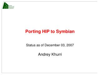 Porting HIP to Symbian