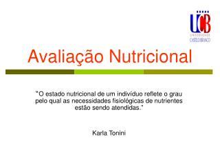 Avalia��o Nutricional