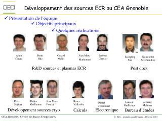 Développement des sources ECR au CEA Grenoble