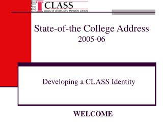 State-of-the College Address 2005-06