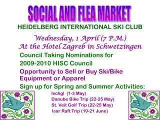 HEIDELBERG INTERNATIONAL SKI CLUB