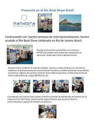 Presencia en el Rio  Boat  Show Brasil