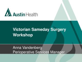 Victorian Sameday Surgery Workshop