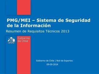PMG/MEI – Sistema de Seguridad de la Información