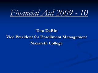 Financial Aid 2009 - 10