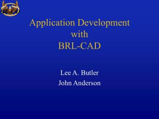 Application Development with BRL-CAD