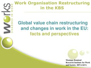 Global value chain restructuring and changes in work in the EU:  facts and perspectives