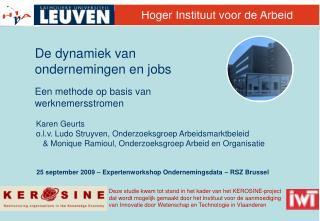 25 september 2009 – Expertenworkshop Ondernemingsdata – RSZ Brussel