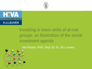 Investing in  basic skills of at-risk  groups: an illustration of the social investment agenda