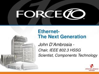 Ethernet-  The Next Generation