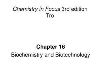 Chemistry in Focus  3rd edition Tro
