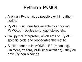 Python + PyMOL