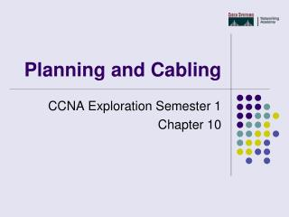 Planning and Cabling