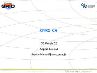 CNRS CA
