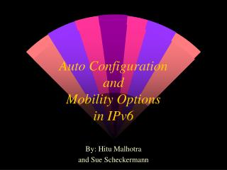 Auto Configuration and  Mobility Options in IPv6