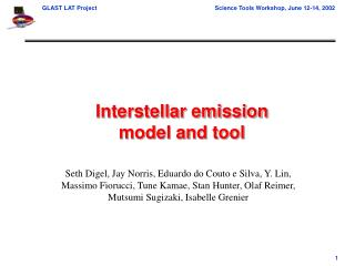 Interstellar emission  model and tool