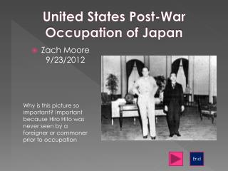 United States Post-War Occupation of Japan