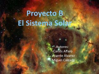 Proyecto B El Sistema Solar