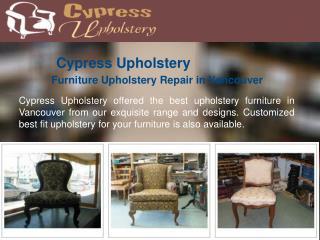 Upholstery Furniture Repair in Vancouver