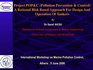 Project POP&C (Pollution Prevention & Control)