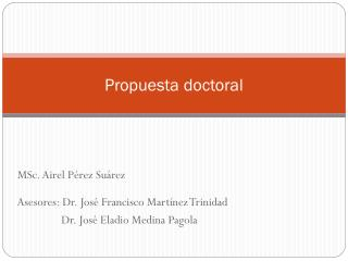 Propuesta doctoral