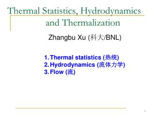 Thermal Statistics, Hydrodynamics        and Thermalization