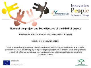 Name of the project and Sub-Objective of the PEOPLE project