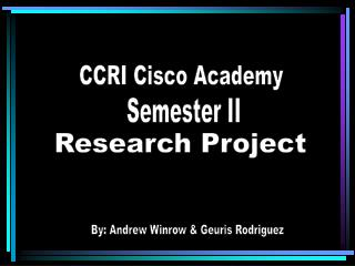 CCRI Cisco Academy
