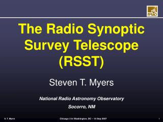 The Radio Synoptic Survey Telescope (RSST)